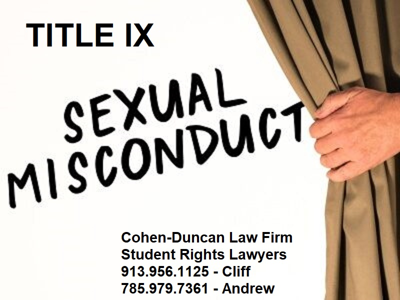 TITLE IX MISCONDUCT HEARINGS COHEN DUNCAN LAW FIRM
